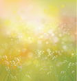 spring nature background vector image