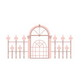 victorian fence and gates icon vector image