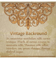 vintage template with vintage elements vector image