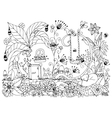 Zen Tangle house radishes vector image