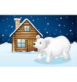 house and polar bear vector image vector image