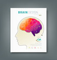 Cover Magazine skull and brain for business design vector image