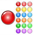 3d web glossy colored buttons vector image