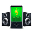 mp3 player with speakers vector image