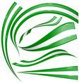 nigeria flag set vector image vector image
