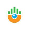 abstract circle chart logo image vector image