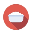 Baby bath with foam icon flat style vector image