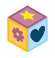 Baby toys colorful icon vector image