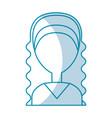 beautiful woman avatar character vector image
