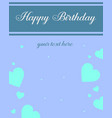 design greeting card birthday party vector image