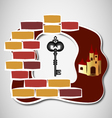 key to castle vector image