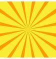 Retro orange background ray vector image