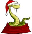 santa snake in the bag vector image