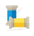 Spool of thread with needle vector image