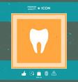 tooth symbol icon vector image