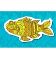 fish painted by hand  Graphic vector image