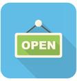 Open icon vector image vector image
