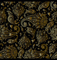 paisley beautiful golden seamless background vector image