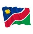 political waving flag of namibia vector image