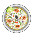 Green Papaya Salad with Fermented Salted Crabs vector image