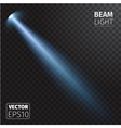 Realistic beam light on transparent background vector image