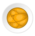 Ball of yarn icon flat style vector image