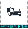 Car insurance icon flat vector image