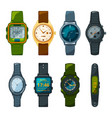 classic and sport hand watches for men and women vector image
