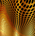 Dotted background gold vector image