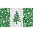 Flag of Norfolk Island with old texture vector image