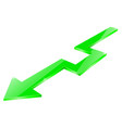 green arrow glass shiny sign vector image
