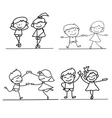 hand drawings cartoon happy kid happiness concept vector image