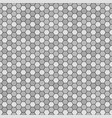 hexagon pattern seamless gray and black vector image