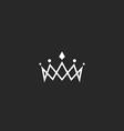 Royal crown logo mockup monogram jewel tiara vector image