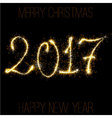 Sparkling 2017 template vector image