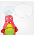 Funny Monster Chef vector image vector image