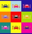 car tire repair service sign  pop-art vector image