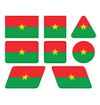 buttons with flag of Burkina Faso vector image