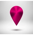 Technology Pointer Button with Magenta Metal vector image