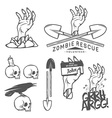 Funny Halloween zombie design elements vector image vector image