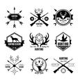 Badges Labels Logo Design Elements Hunting vector image