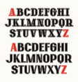Set of uppercase font with contour vector image