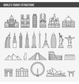 top tourist attractions historical buildings vector image