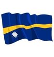 political waving flag of nauru vector image vector image
