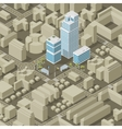 City plan isometric vector image