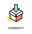 commadity icon and open box symbol on white vector image