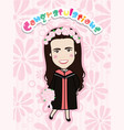 cute graduation girl vector image