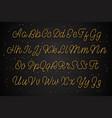 latin gold alphabet the script effect is golden vector image