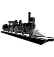 monochrome of old steam train vector image