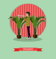 Musician trumpet player in vector image
